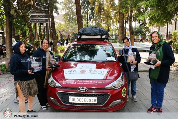 رالی مادران روی چرخ ـ برای شفای جهان به تهران رسید