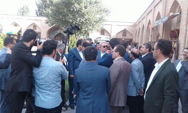 رئیس سازمان میراث فرهنگی از مجموعه جهانی شیخ صفی الدین اردبیلی بازدید کرد