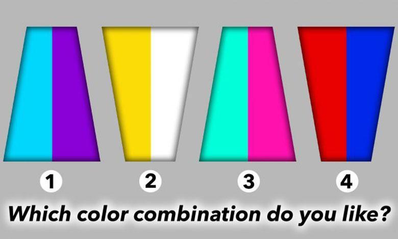تست روانشناسی: ترکیب رنگی که انتخاب می کنید؛ نشان دهنده شخصیت شما است