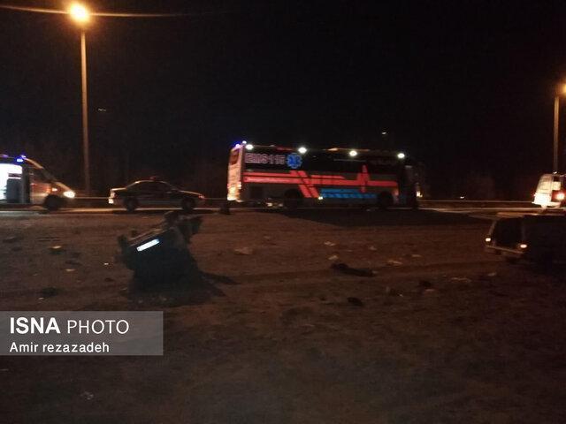 فوت سه نفر و مجروح شدن شش هرمزگانی در تصادف یک ون در عراق