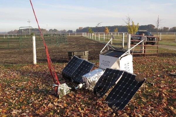 پروژه سلفی فضایی سامسونگ در یک مزرعه سقوط کرد
